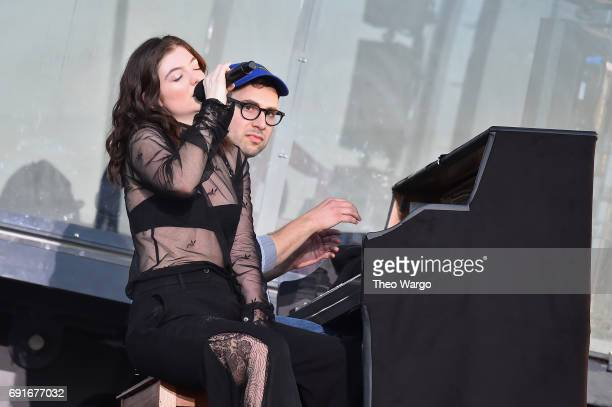 Lorde and Jack Antonoff perform onstage during the 2017 Governors Ball Music Festival Day 1 at Randall's Island on June 2 2017 in New York City