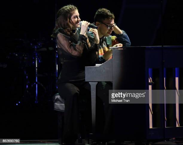 Lorde and Jack Antonoff perform onstage during the 2017 iHeartRadio Music Festival - Night 2 held at T-Mobile Arena on September 23, 2017 in Las...