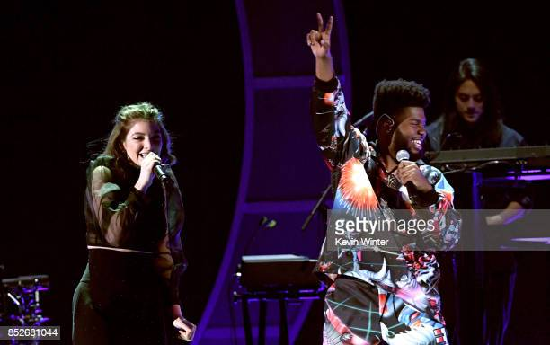Lorde and Khalid perform onstage during the 2017 iHeartRadio Music Festival at TMobile Arena on September 23 2017 in Las Vegas Nevada