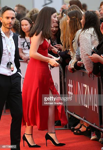 Lorde arrives at the Vodafone New Zealand Music Awards at Vector Arena on November 19 2015 in Auckland New Zealand