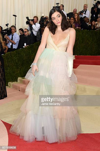 Lorde attends the 'Manus x Machina Fashion In An Age Of Technology' Costume Institute Gala at Metropolitan Museum of Art on May 2 2016 in New York...