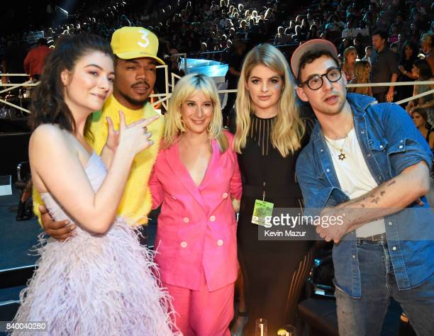 Lorde, Chance the Rapper, guests and Jack Antonoff attend the 2017 MTV Video Music Awards at The Forum on August 27, 2017 in Inglewood, California.