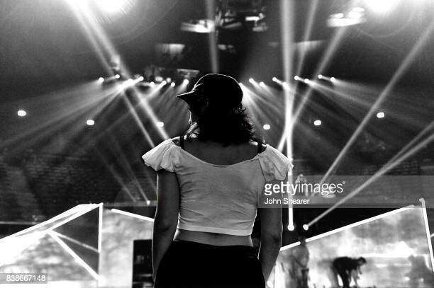 Lorde is seen during rehearsals for the 2017 MTV Video Music Awards at The Forum on August 24 2017 in Inglewood California