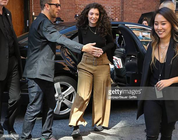 Lorde is seen on September 16 2015 in New York City