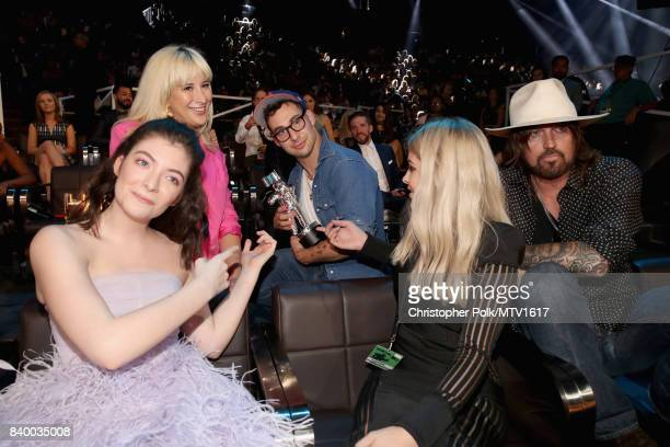 Lorde Jack Antonoff and Billy Ray Cyrus and guests attend the 2017 MTV Video Music Awards at The Forum on August 27 2017 in Inglewood California