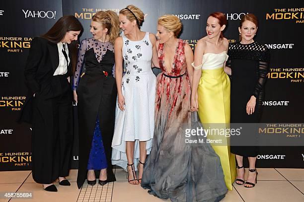 Lorde Natalie Dormer Jennifer Lawrence Elizabeth Banks Jena Malone and Julianne Moore attend the World Premiere of The Hunger Games Mockingjay Part 1...