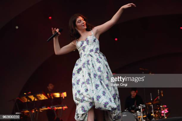 Lorde performs at All Points East Festival at Victoria Park on May 26 2018 in London England