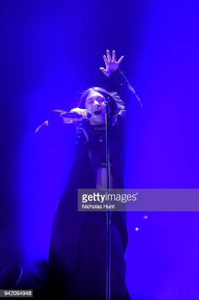 Lorde performs at Melodrama World Tour at Barclays Center on April 4 2018 in New York City