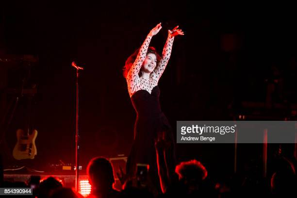 Lorde performs at O2 Apollo Manchester on September 26 2017 in Manchester England