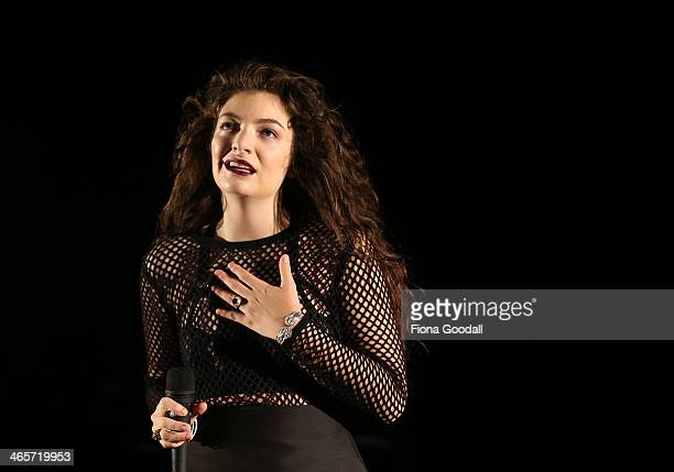 Lorde performs at Silo Park on January 29 2014 in Auckland New Zealand
