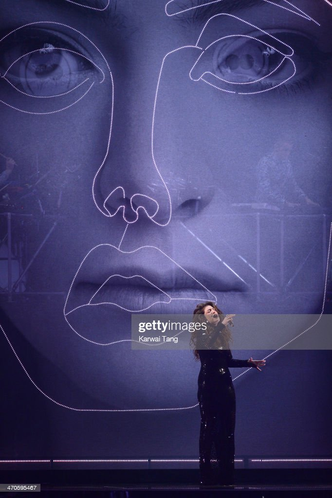Lorde performs at The BRIT Awards 2014 at 02 Arena on February 19, 2014 in London, England.