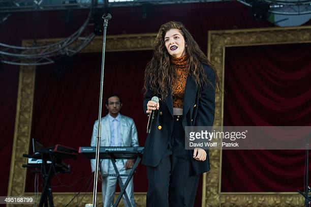 Lorde performs at We Love Green Festival at on June 1 2014 in Paris France