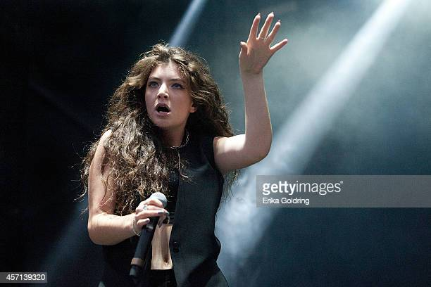 Lorde performs during Austin City Limits Festival at Zilker Park on October 12 2014 in Austin Texas
