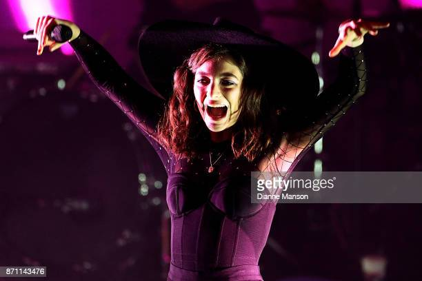 Lorde performs during her Melodrama World Tour in the Dunedin Town Hall on November 7 2017 in Dunedin New Zealand