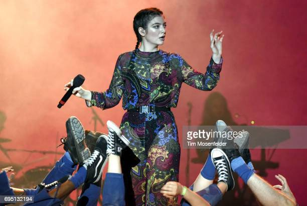 Lorde performs during the 2017 Bonnaroo Arts and Music Festival on June 11 2017 in Manchester Tennessee