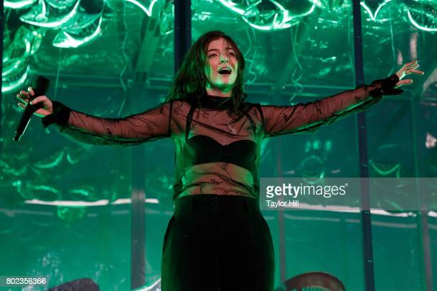Lorde performs during the 2017 Governors Ball Music Festival at Randall's Island on June 2 2017 in New York City