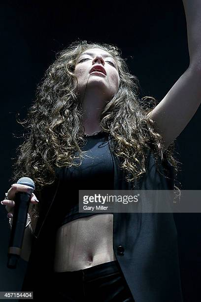 Lorde performs in concert on the final day of Austin City Limits Music Festival at Zilker Park on October 12, 2014 in Austin, Texas.