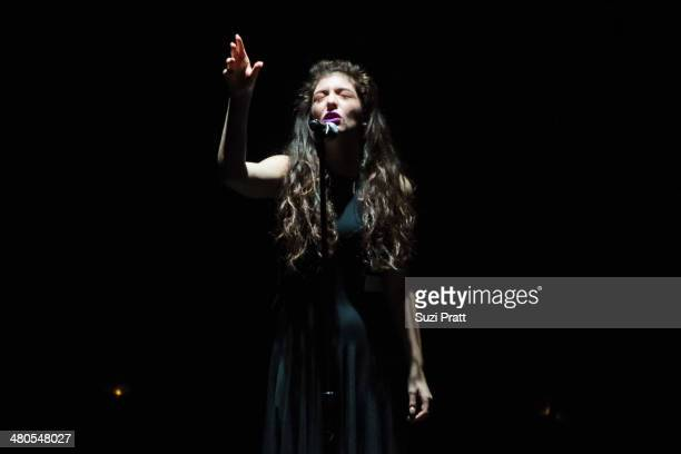 Lorde performs live at WaMu Theater on March 24, 2014 in Seattle, Washington.