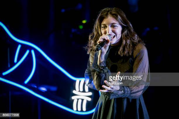 Lorde performs live on stage during her Melodrama world tour at Brighton Centre on September 30 in Brighton ENGLAND