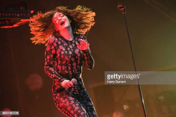 Lorde performs on day 2 of the Glastonbury Festival 2017 at Worthy Farm Pilton on June 23 2017 in Glastonbury England