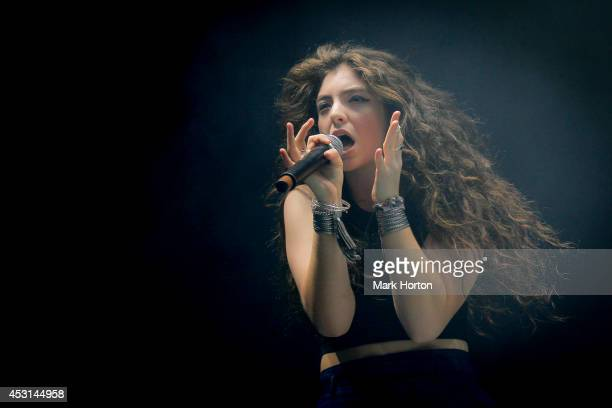 Lorde performs on Day 3 of the Osheaga Music and Art Festival on August 3, 2014 in Montreal, Canada.