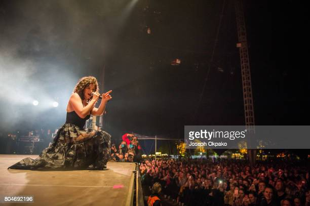 Lorde performs on stage at Roskilde Festival on June 30 2017 in Roskilde Denmark
