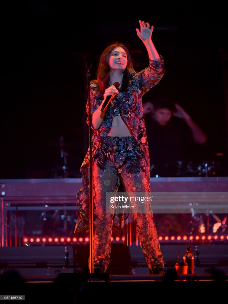Lorde performs onstage at Staples Center on March 14, 2018 in Los Angeles, California.