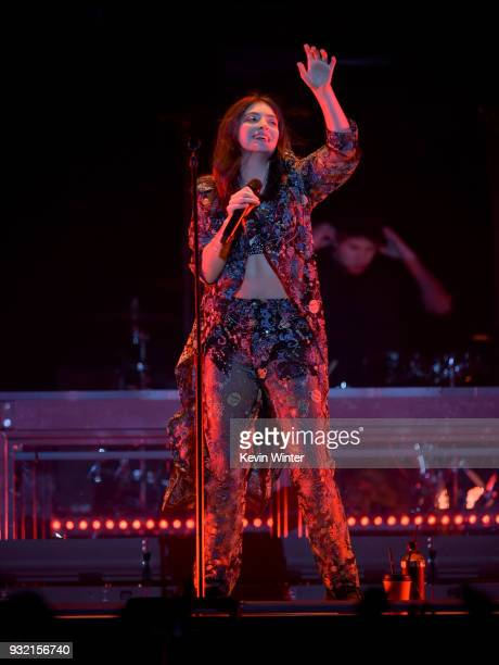 Lorde performs onstage at Staples Center on March 14 2018 in Los Angeles California