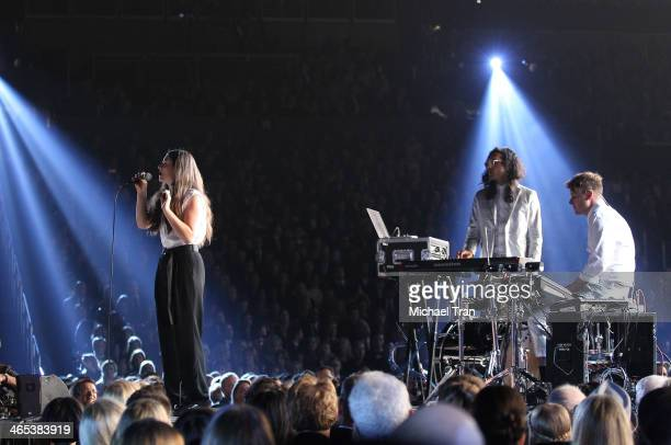 Lorde performs onstage during the 56th GRAMMY Awards held at Staples Center on January 26 2014 in Los Angeles California