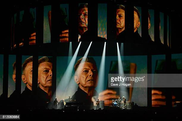 Lorde performs with members of David Bowie's touring band at the BRIT Awards 2016 at The O2 Arena on February 24 2016 in London England