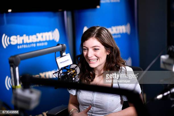 Lorde visits ÔHits 1 in HollywoodÕ on SiriusXM Hits 1 channel at the SiriusXM Studios in Los Angeles on April 25 2017 in Los Angeles California