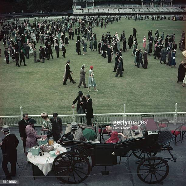 1955 Lord's achieves its sartorial and social pinnacle for a school event the annual EtonHarrow Match