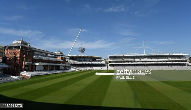 Lords cricket ground is pictured in London on March 26 following the announcement of their new head groundsman Karl McDermott. - When Ireland face...