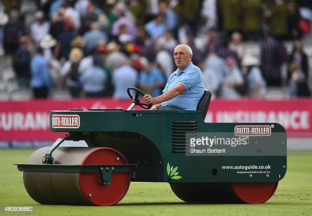Lords head groundsman Mike Hunt at the end of day one of the 2nd Investec Ashes Test match between England and Australia at Lord's Cricket Ground on...