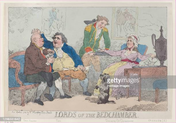 Lords of the Bedchamber April 14 1784 Artist Thomas Rowlandson