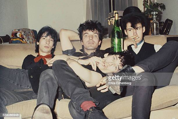 Lords Of the New Church group portrait studio London 1982 Line up includes Dave Tregunna Brian James Stiv Bators and Nicky Turner