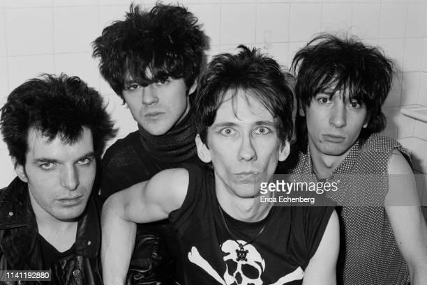 Lords of The New Church studio shoot west London 1982 LR Brian James Nick Turner Stiv Bators Dave Tregunna