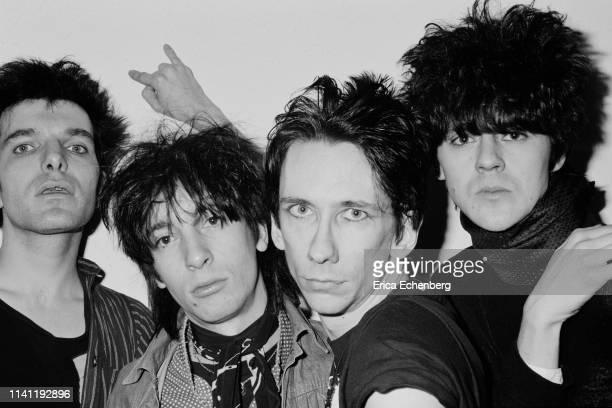 Lords of The New Church studio shoot west London 1982 LR Brian James Dave Tregunna Stiv Bators Nick Turner