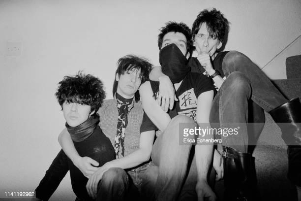 Lords of The New Church studio shoot west London 1982 LR Nick Turner Dave Tregunna Brian James Stiv Bators