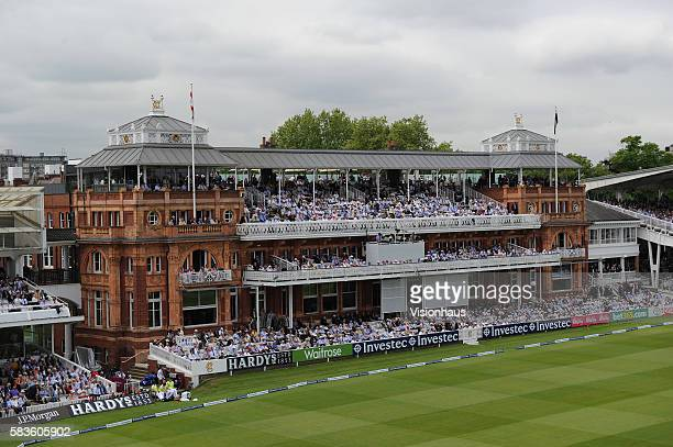 Lord's pavilion during the 2nd Day of the 1st Investec Test Match between England and New Zealand at Lord's Cricket Ground in London United Kingdom...