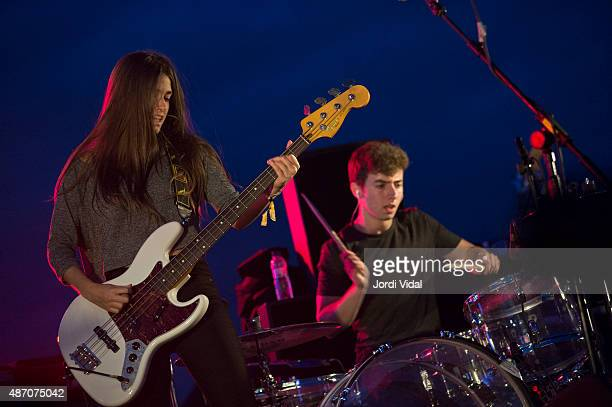 Lore Nekane and Lander Zalakain of Belako perform on stage during the second day of Tibidabo Live Festival at Parc del Tibidabo on September 5 2015...