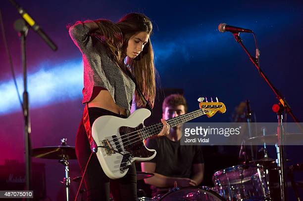 Lore Nekane of Belako performs on stage during the second day of Tibidabo Live Festival at Parc del Tibidabo on September 5 2015 in Barcelona Spain