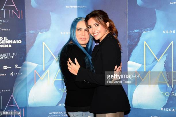 Loredana Berte and Serena Rossi attend the 'Io Sono Mia' photocall on January 10 2019 in Milan Italy