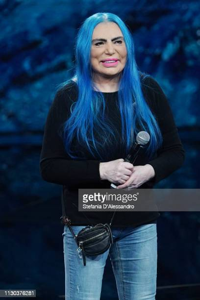Loredana Berte attends Che Tempo Che Fa TV Show at on February 17 2019 in Milan Italy