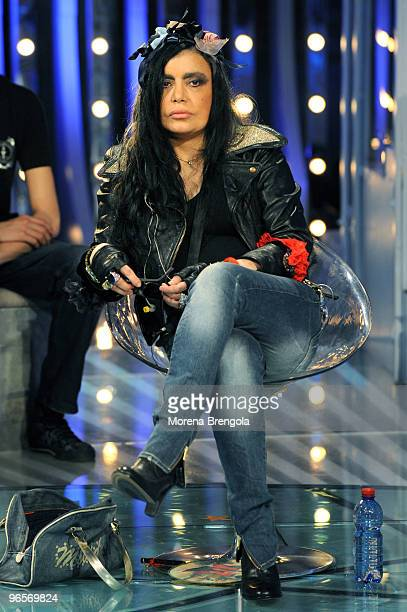 Loredana Berte' during the Italian tv show Scalo 76 on May 20 2008 in Milan Italy