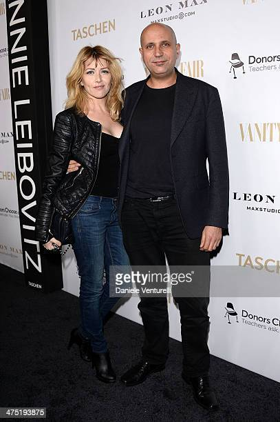 Loredana Cannata and Francesco Cinquemani attend Vanity Fair Campaign Hollywood Annie Leibovitz Book Launch Sponsored By Leon Max at Chateau Marmont...