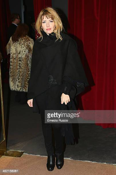 Loredana Cannata attends the End Of The Rainbow opening night at Teatro Eliseo on November 26 2013 in Rome Italy