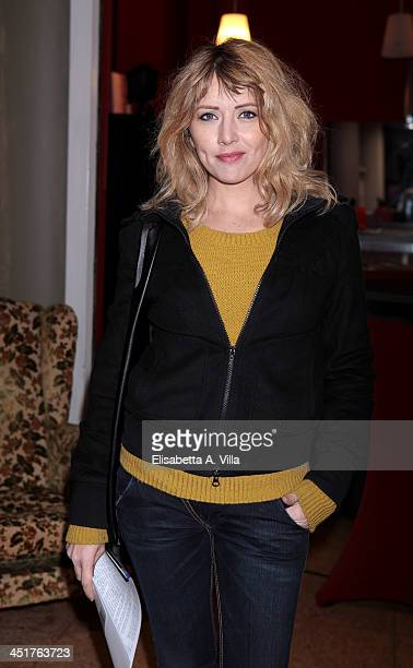 Loredana Cannata attends the Ivana Chubbuck Acting Seminar at Teatro Ambra Jovinelli on November 24 2013 in Rome Italy