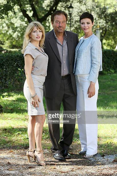 Loredana Cannata Sebastiano Somma and Vittoria Belvedere attend the Un Caso Di Coscienza 5 photocall at Casa del Cinema on September 5 2013 in Rome...