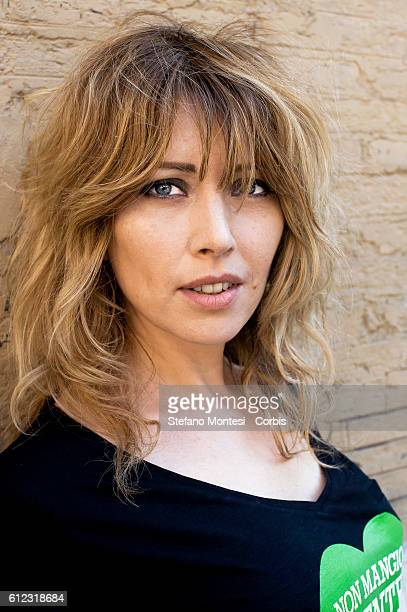 Loredana Cannata the actress Vegana during manifestation of the Association Italian Animalists Onlus that launches its first vegan campaign in Italy...
